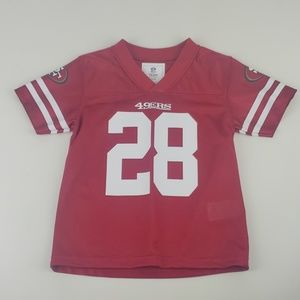49ers San FranciscTeam Apparel Kids Jersey size 4T
